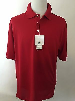 Tri Mountain Mens Large Golf Shirt Moisture Wicking Red Nwt