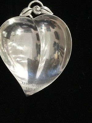 Vintage Mid-Century Tiffany & Co. Sterling Silver Apple Dish