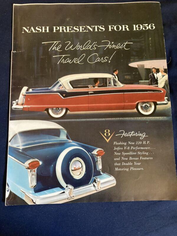 1956 Nash Ambassador and Statesmen Color Brochure Catalog Prospekt