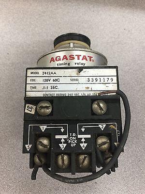 Used No Box Agastat Timing Relay 2412aa 120v 60c Serial 3391179