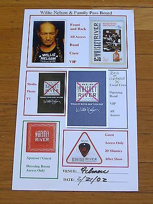 Willie Nelson & Family 2002 Fillmore Pass Board includes cloth All Access Pass