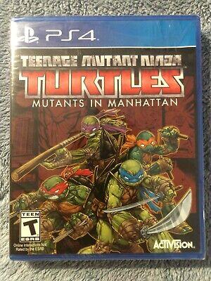 SEALED Teenage Mutant Ninja Turtles Mutants in Manhattan (PS4) FAST FREE SHIP