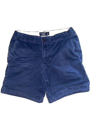 Abercrombie & Fitch By Hollister Men's Classic Prep Fit Shorts Size 30 Navy