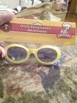 Peanuts Snoopy Girls Kids Yellow/Purple Sunglasses 100% UV Proof Cute Cupcake Ne (Snoopy Cupcakes)