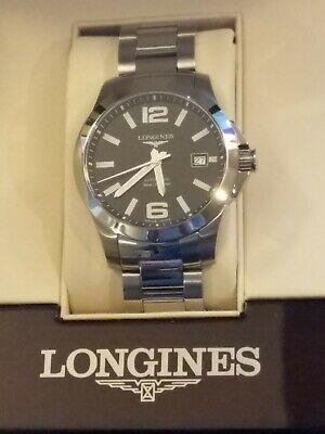 Longines Conquest Automatic 39mm LNIB! Black dial  L3.776.4