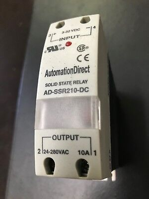 5 Pc. Lot Solid State Relay 10 Amp Ad-ssr210-dc 24-280vac Out 3-32vdc In