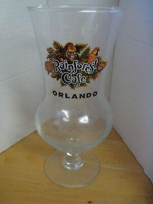 """RAINFOREST CAFE ORLANDO HURRICANE 9-3/4"""" COCKTAIL GLASS"""