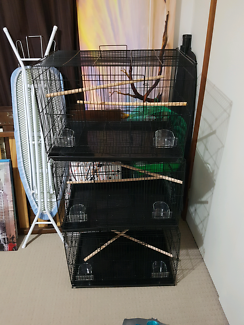 Brand new flight cages 60x40x40 black and white ones forsale $45