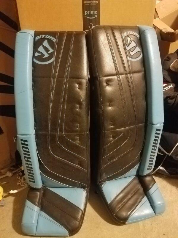 Warrior Ritual G1 Pro Custom Senior Ice  Hockey Goalie Leg Pads 34+1