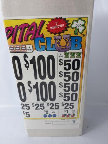 WINDOW PULL TAB TICKETS - CAPITAL CLUB - 2735  Count - $ .50