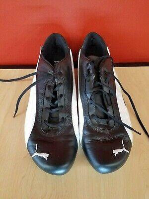 Vintage Puma Shoes Men's 10M Drift Cat 2 Black/White - Sport Trainer 302065 04