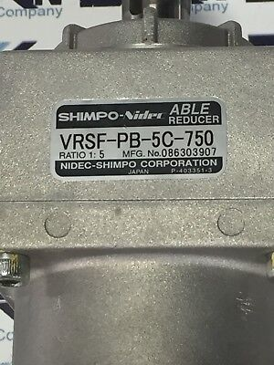 Shimpo Able Nidec Gear VRKF-3C-750  ratio 1:3