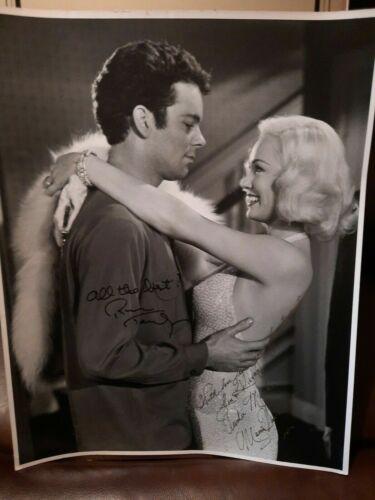 Russ Tamblyn & Mamie Van Doren Signed 16x20 Photo 1958 High School Confidential