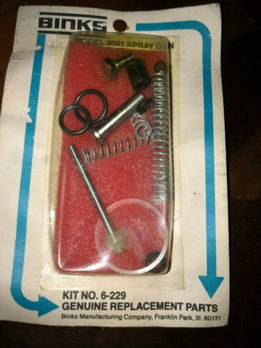 Binks 6-229 Spray Gun Repair Kit for 2001 Gun NEW