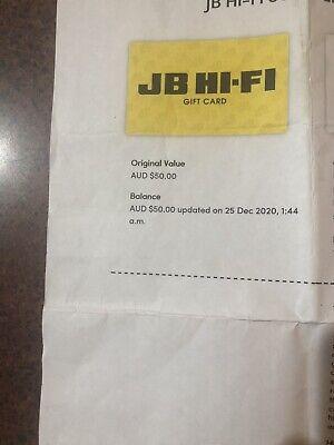 JB HIFI GIFT VOUCHER