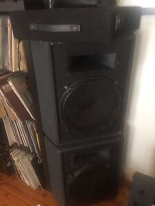 "2 x Klipsch Diamond Cabinet 15"" PASSIVE spkrs + Behringer EP4000 North Bondi Eastern Suburbs Preview"