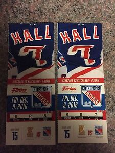 Rangers tix's for Friday Dec. 9
