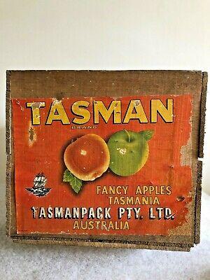 Vintage Wooden Crate -Tasman Apples - Tasmania Australia