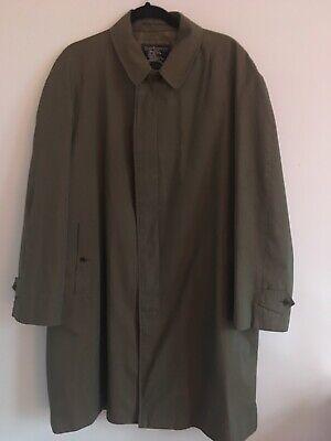 BURBERRY PRORSUM Henry Burton of Glasgow Rain Overcoat Mac Trench Coat Size 44R