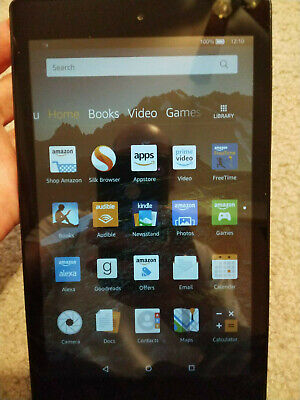 Amazon Kindle Fire HD 8 (6th Generation) 16GB, Wi-Fi, 8in - Black, very Good