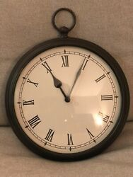 CLASSIC VINTAGE ANTIQUE 9 REAL METAL Bronze Stopwatch Style Analog Wall Clock