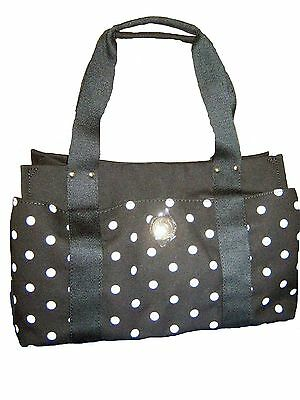 Tommy Hilfiger Women's Med Iconic Black White Dot Satchel Hand Bag Purse Nwt