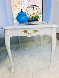 White French Provincial end tables, night tables (2)