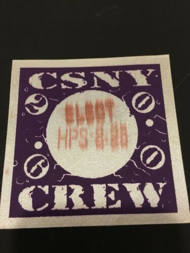2000 CROSBY STILLS NASH YOUNG TOUR FABRIC BACKSTAGE PASS LOT HERSHEY PA.