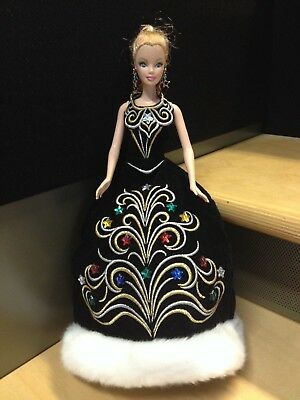Doll Toy barbie Mattel Blonde Braided Long Ponytail  Year 1999 12 in Black Gown