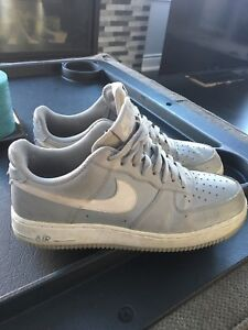 Gray Nike Air Force 1s