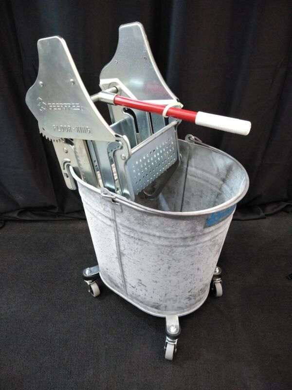 NEW Geerpres Floor King Metal Mop Bucket and Wringer Press 35Qt.
