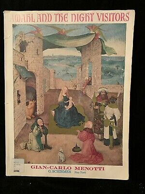 MENOTTI, GIAN CARLO - Amahl and the Night Visitors - Vocal Score -