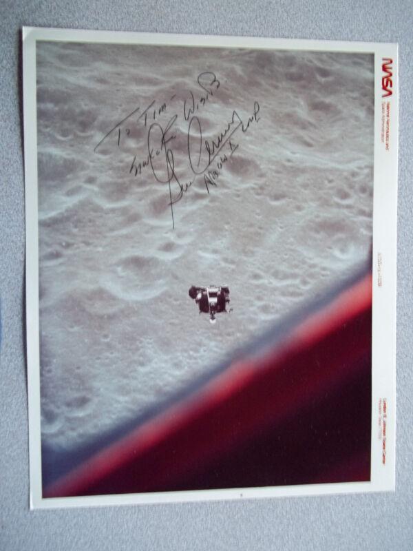 Gene Cernan Apollo 10 autographed 8X10 Photo/ Red #
