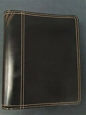 Franklin Covey Classic Espresso Brown Leather Open Binder 1.5 Rings