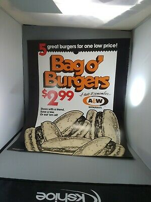 "A &W Root beer collectibles advertising poster new old stock 28""×22"" year 1991"