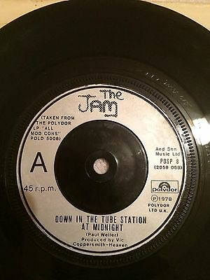 The Jam - Down In The Tube Station At Midnight/So Sad About Us - POSP 8