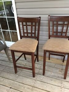 Two pub style chairs