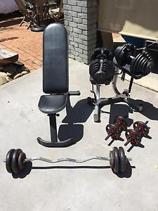 Home Weights Set, including adjustable weight bench Avalon Pittwater Area Preview