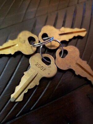 Fountain Soda Machine Keys 2007 Lot Of 4