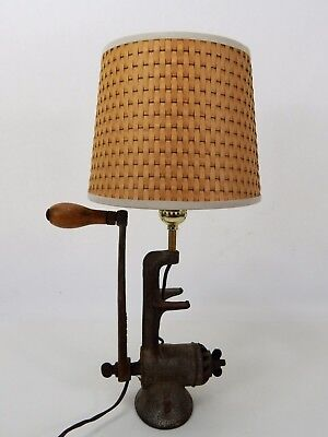 Vintage Universal Meat Grinder Table Lamp Art Deco