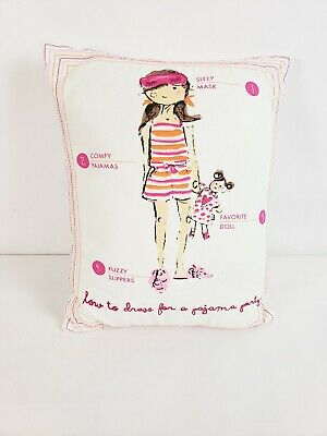 Crate & Barrel Land of Nod Decorative Pillow How to Dress for a Pajama Party