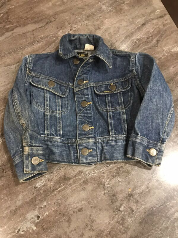 Vintage Lee Denim Jacket Union Made in USA Jean 2 Toddler Boy Girl Child Kids