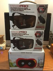 3 BRAND NEW, VIRTUAL REALITY HEADSET'S, 4 SALE!