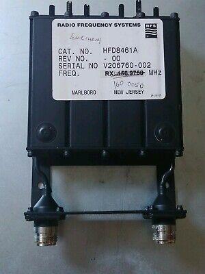 Radio Frequency Systems Motorola Hfd8461a Vhf 144-160 Mhz Duplexer Preselector
