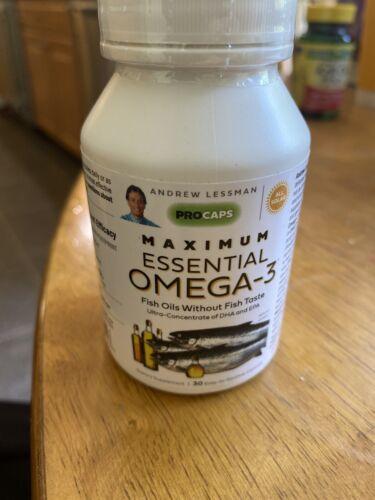 Andrew Lessman Maximum Essential Omega-3 30 Caps Exp. 01/2023 New & Sealed