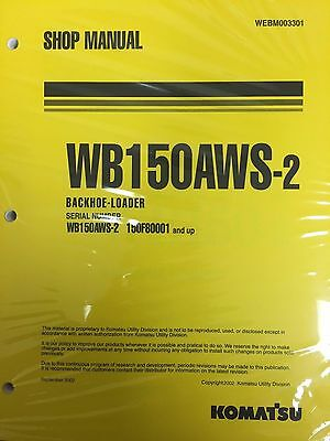 Komatsu Service Wb150aws-2 Backhoe Loader Shop Manual