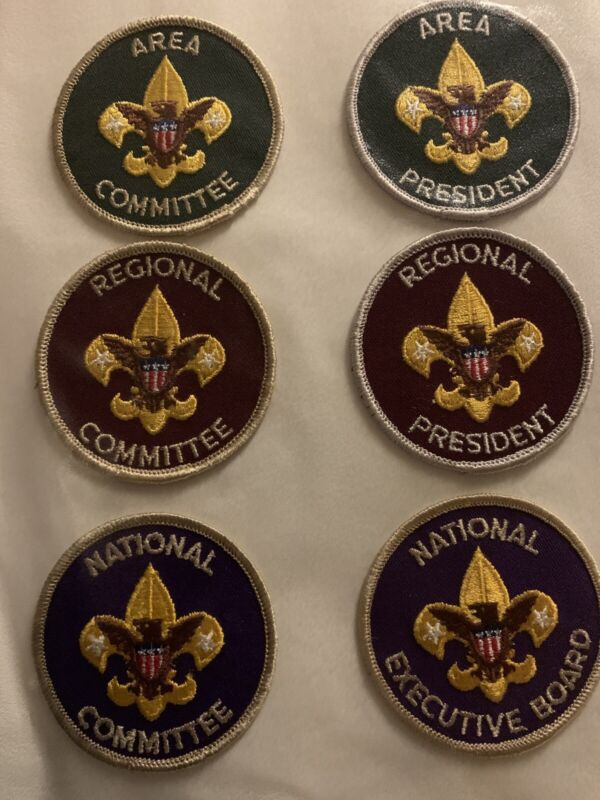 Boy Scout position Lot 6 patches:National Executive Board, National Committee