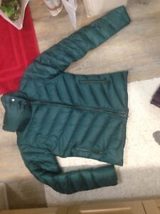 Patagonia and Andrew Marc down jacket