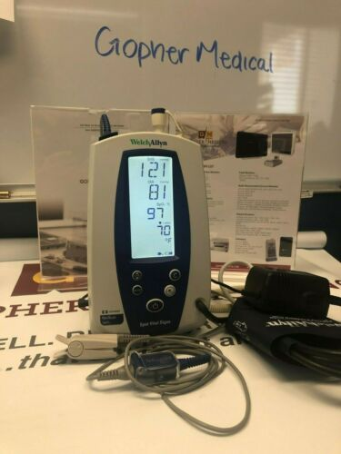 Welch Allyn 42NTB Vital Signs Monitor TEMP,SP02,NIBP, BIOMED CERTIFIED WARRANTY