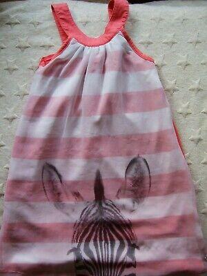TOM TAILOR Mädchen Kleid Hängerchen Koralle Zebra Gr. 116 122  *TOP* ()